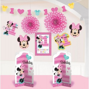 Minnie Mouse 1st Birthday Fun To Be One Room Decorating Kit