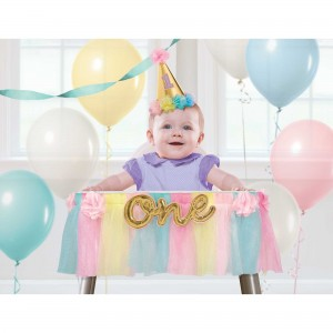 Girl's 1st Birthday Deluxe High Chair Misc Decoration