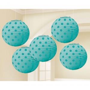 Blue Robin's Egg Mini Paper Lanterns