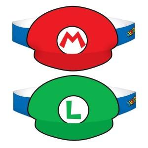 Super Mario Paper Party Hats