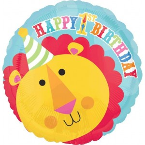 Fisher Price 1st Birthday Circus Standard HX Lion Foil Balloon
