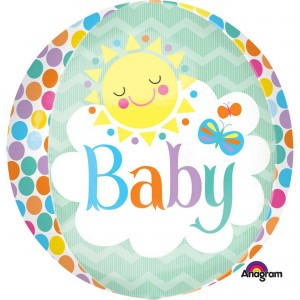 Baby Shower - General Friendly Sun Shaped Balloon