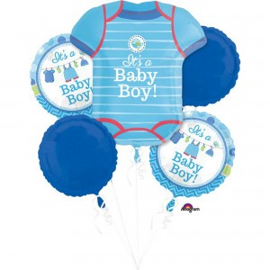 Shower with Love Boy Bouquet Foil Balloons