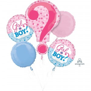 Gender Reveal Bouquet Foil Balloons