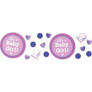 Shower with Love Girl Confetti