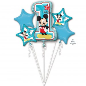 Mickey Mouse 1st Birthday Bouquet Foil Balloons