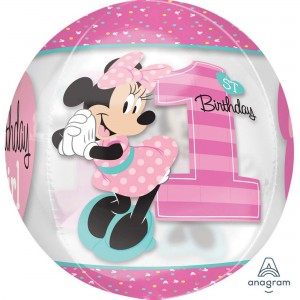 Minnie Mouse 1st Birthday Shaped Balloon