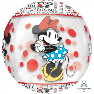 Minnie Mouse Clear Shaped Balloon