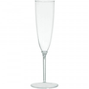 Clear Boxed Champagne Flute Plastic Glasses