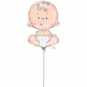 Baby Shower - General Mini Sitting Baby Shaped Balloon