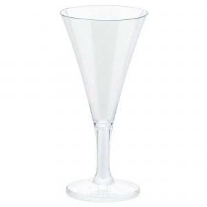 Clear Mini Catering Champagne Flute Plastic Glasses