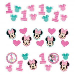 Minnie Mouse 1st Birthday Fun To Be One Confetti