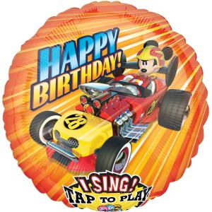 Mickey Mouse Roadster Racers Jumbo Sing-A-Tune Singing Balloon