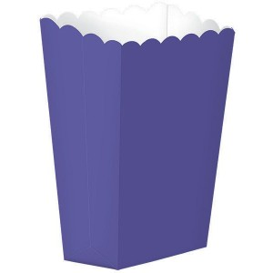 Purple New Small Popcorn Favour Boxes