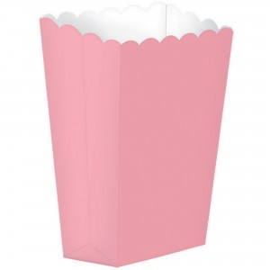 Pink New Popcorn Favour Boxes