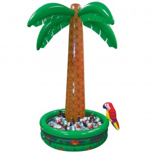 Hawaiian Luau Inflatable Palm Tree Cooler