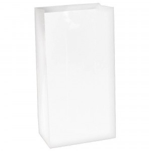 White Large Paper Favour Bags