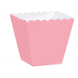 Pink New Scalloped Paper Favour Boxes