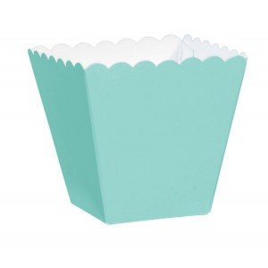 Blue Robin's Egg Scalloped Paper Favour Boxes