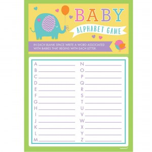 Baby Shower - General A to Z Playing Cards Party Games