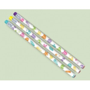 Baby Shower - General Pencils with Eraser End Favours