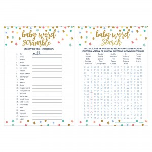 Baby Shower - General 2 in 1 Word Games Party Games