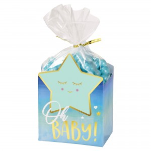 Oh Baby Boy Cello Bags, Twist Ties & Favour Boxes