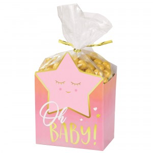 Oh Baby Girl Cello Bags, Twist Ties & Favour Boxes