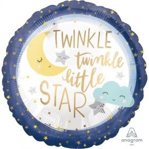 Twinkle Little Star Standard XL Satin Foil Balloon