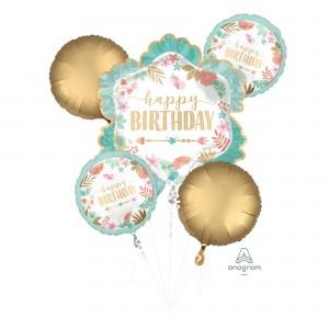 Boho Girl Bouquet Foil Balloons