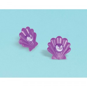 Mermaid Wishes Plastic Shell Ring Favour