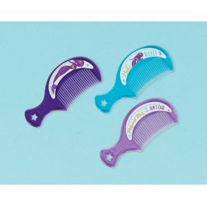 Mermaid Wishes Mini Plastic Comb Favours