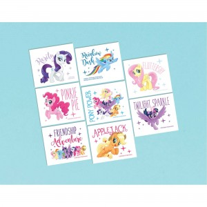 My Little Pony Friendship Adventures Tattoos Favours