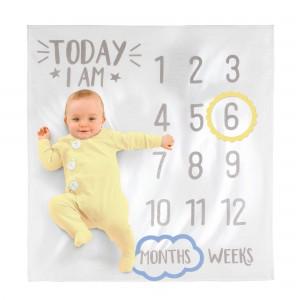 Baby Shower - General Milestone Fabric Baby Blanket Misc Accessorie