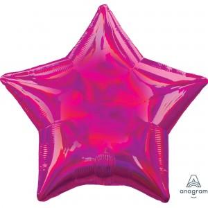 Magenta Iridescent Standard Holographic Shaped Balloon
