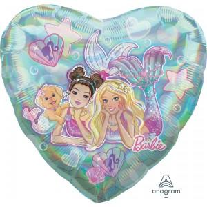 Barbie Mermaid Jumbo Holographic Shaped Balloon
