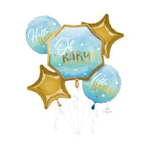 Oh Baby Boy Blue Bouquet Shaped Balloons