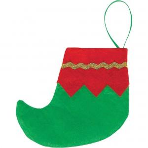 Christmas Mini Elf Boots Felt Stockings Misc Decorations