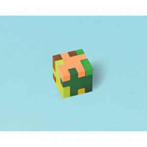Minecraft TNT Puzzle Cube Mini Eraser Favours