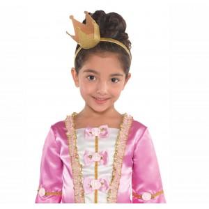 Gold Glittered Crown Headband Head Accessorie