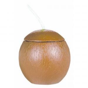 Hawaiian Luau Coconut Shape Cup Plastic Cup