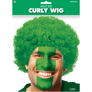 Green Curly Wig Head Accessorie
