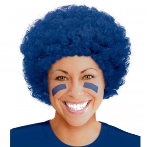 Blue Navy Curly Wig Head Accessorie