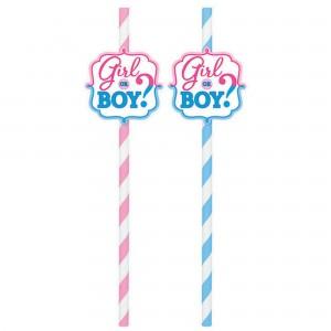 Gender Reveal Straws