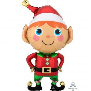 Christmas SuperShape XL Happy  Elf Shaped Balloon