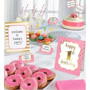 Girl's 1st Birthday Buffet Decorating Kit