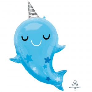 Baby Shower - General SuperShape XL Marwhal Baby Shaped Balloon