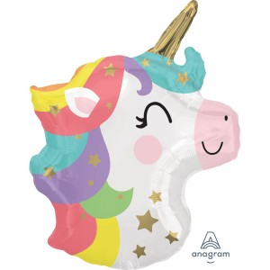 Baby Shower - General Standard XL Baby Unicorn Head Shaped Balloon