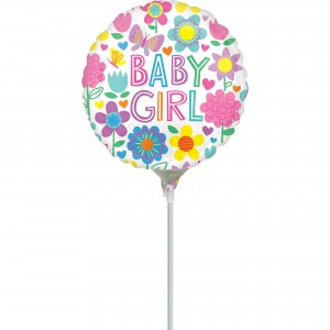 Baby Shower - General Floral Butterfly Foil Balloon