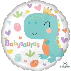 Baby Shower - General Standard HX Babysaurus Dinosaur Foil Balloon